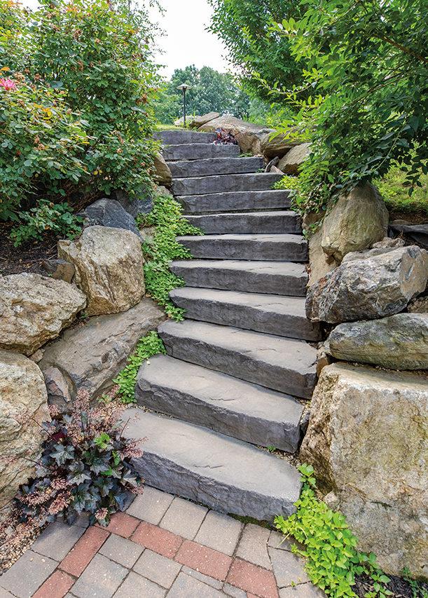 Faux Stone Steps